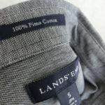 ランズエンドで買った主人のシャツ☆ピマコットン・BD・ポロシャツ