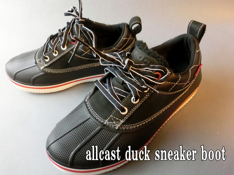 allcast duck sneaker boot