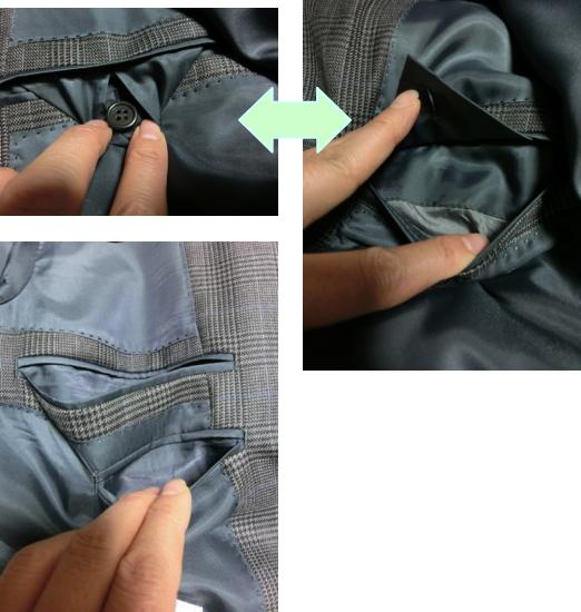 紳士服アオキ ジャケット 内ポケット