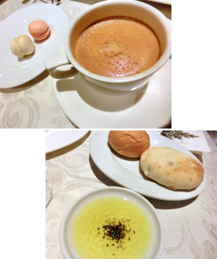 YOKOHAMA CRUISE CRUISE 料理スープ・パン