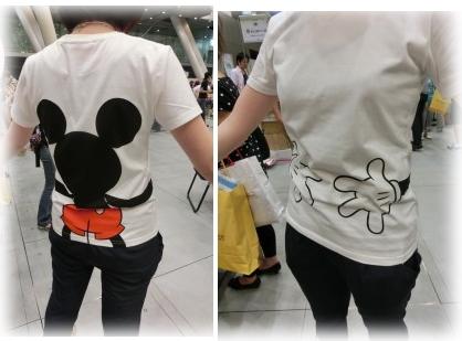 ペアで着れるミッキーT☆ベルメゾンネットディズニーTシャツ