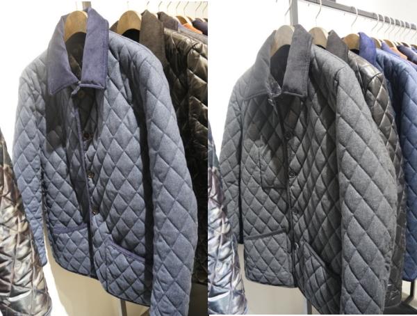 キルティングジャケット 色違い