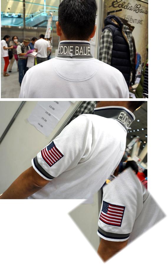 半袖スポーツショップフラッグパッチソリッドピケポロ衿
