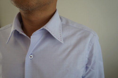 NEWYORKER・パターンメイドシャツ