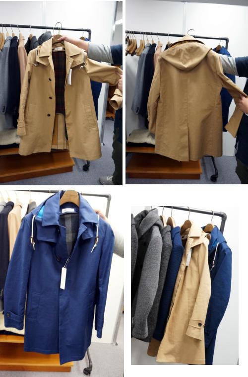 ステンカラーのコート