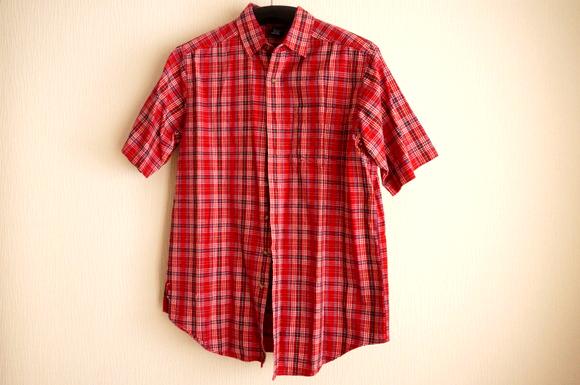 【LANDS' END】17~18年経ってもヘタれていない!!思い出の赤いチェックシャツ♪
