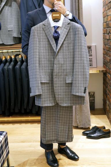 ミラクルクリンプカシミヤミックス グレンチェック スーツ