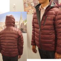 EB900フィルパワープラス ユーティラリバーシブルダウン フードジャケット