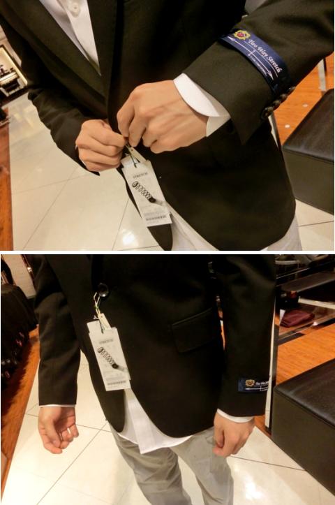 スーツとワイシャツの袖