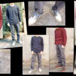 【d fashion】 で買ったメンズセーター2種&チェックアクセントチノパンツを着てみてもらった♪