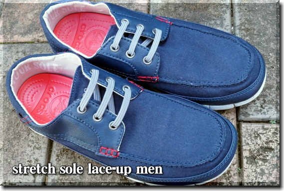 stretch sole lace-up men