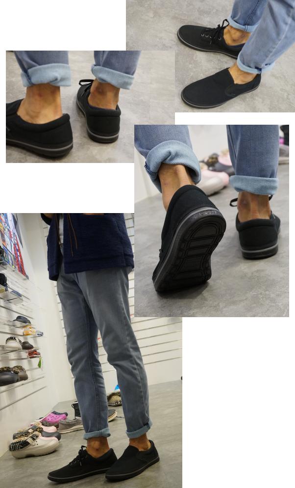 靴紐とスリッポン