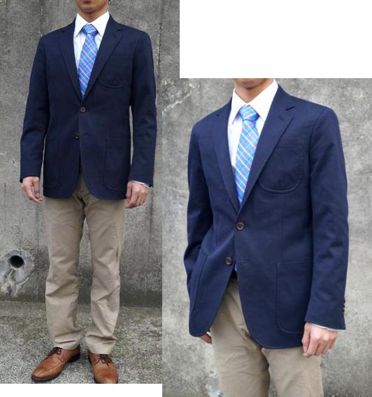 男の定番ジャケットを本格テーラード仕立てで!着心地良くてON・OFF使える大人の「紺ジャケ」♪