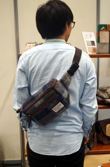 glencheck-harris-tweed-2waywaist-bag