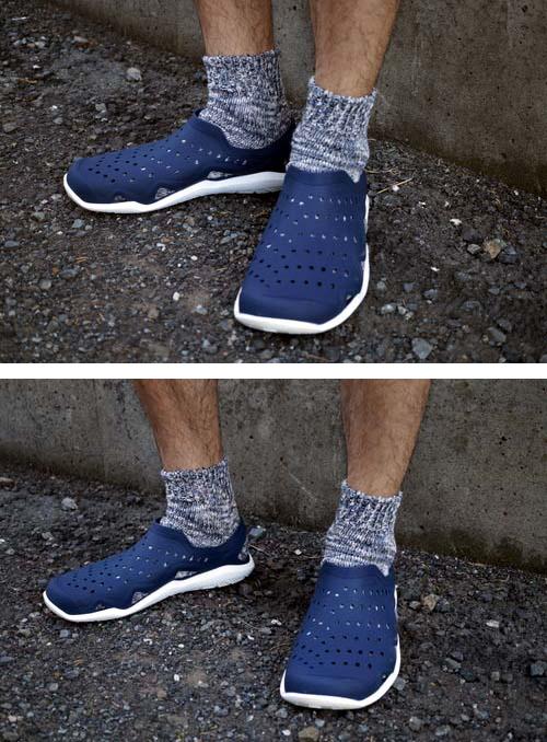 靴下霜降りサンダル