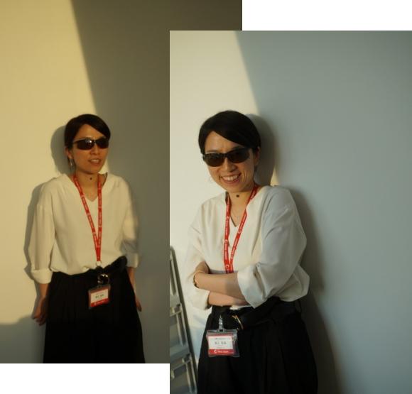 女性のサングラス