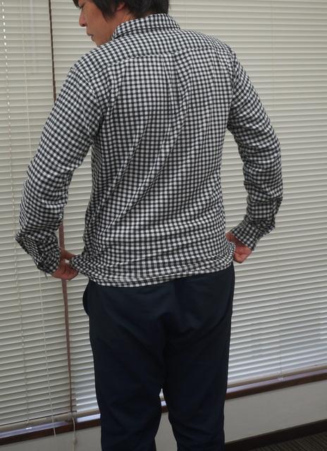 メンズ伸びシャツ