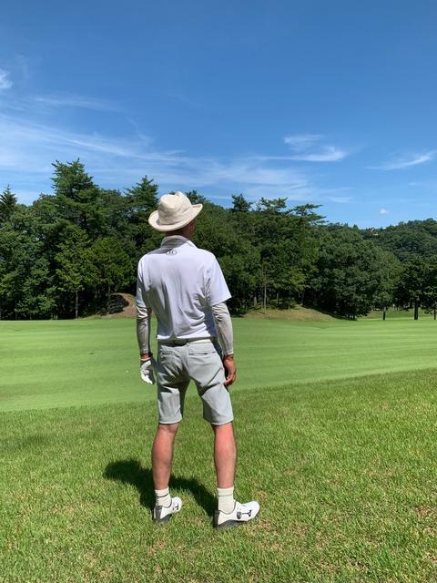 golfにハット