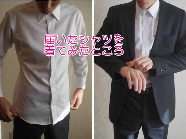 ソルブシャツ着てみたサイズ感