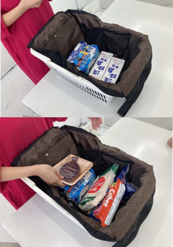 レジカゴバッグの使用イメージ