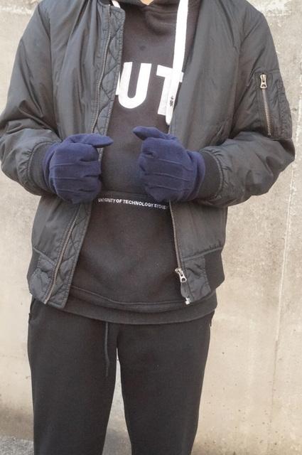 Doガード・抗ウイルス保湿手袋/メンズ 20代着画